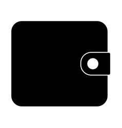 Change purse the black color icon vector
