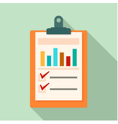 Checklist graph icon flat style vector