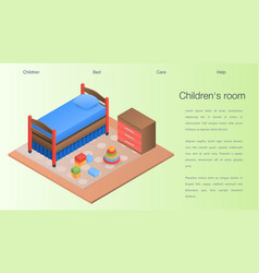 childrens room concept background isometric style vector image