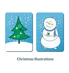 Chrismas labeles set vector