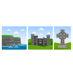 Cliffs of moher in county clare malahide castle vector