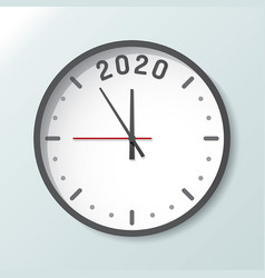 clock isolated on background with copy space 2020 vector image