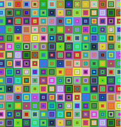 Colorful square tile mosaic background design vector image