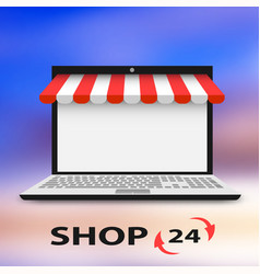 concept computer mobile store vector image