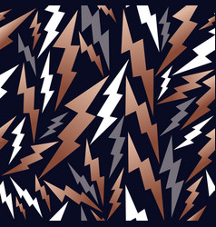 Copper thunder seamless pattern background vector