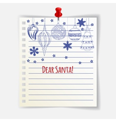 Dear Santa card vector