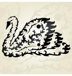 Decorative swan vector