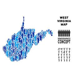 Demographics west virginia state map vector