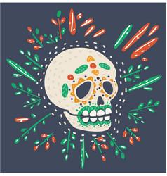 dia de los muertos day dead vector image