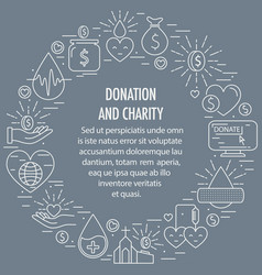 donation circle template vector image
