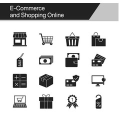 e-commerce and shopping online icons design for vector image