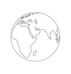 earth logo for your business vector image