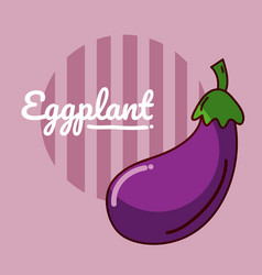 eggplant vegetable cartoon vector image