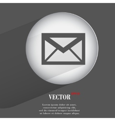 Envelope Flat modern web button with long shadow vector