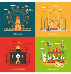 Funfair concept set vector image