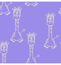 Funny Seamless pattern with giraffe Baby giraffe vector