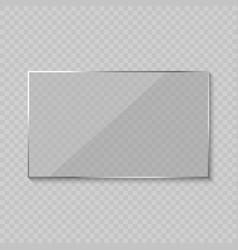 Glare glass frame vector