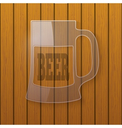 Glass plate in the form of a beer mug vector image