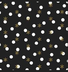 glitter gold polka dot christmas new year seamless vector image