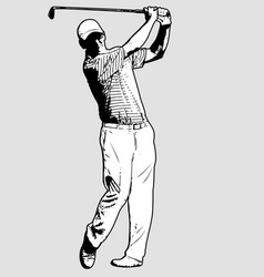 Golf player sketch vector