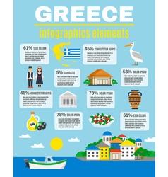 Greece Infographics Elements vector
