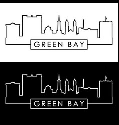 Green bay skyline linear style editable file vector