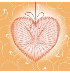 Greeting cards with heart shape vector