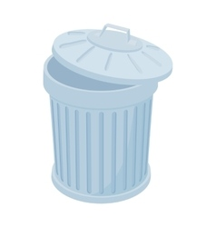 Grey trash can icon cartoon style vector