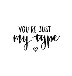 hand drawn calligraphy love inscription funny vector image