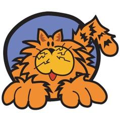 Happy cat cartoon vector image vector image