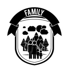 Happy family design vector