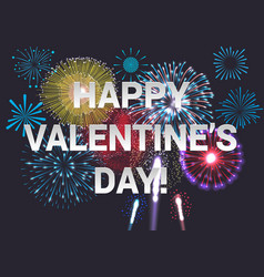 happy valentines day festive concept vector image