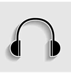 Headphones sign Sticker style icon vector image
