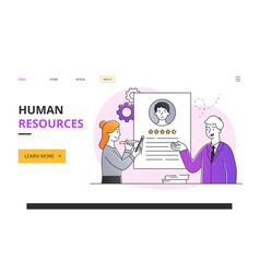 Human resources abstract concept vector
