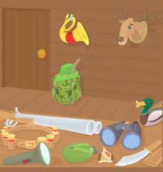 hunting concept cartoon style vector image