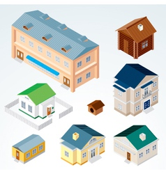 Isometric Houses vector image