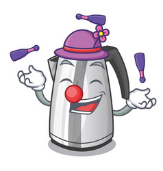 Juggling mascot cartoon household kitchen electric vector