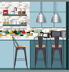 Kitchen ideas amp design vector