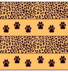 Leopard background with traces vector