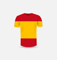 mens t-shirt icon and spain flag backgroundround vector image