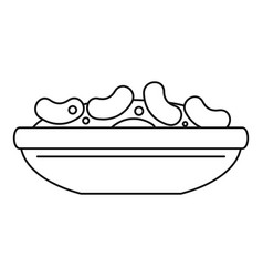 Mexican beans icon outline style vector