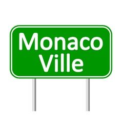 Monaco-Ville road sign vector
