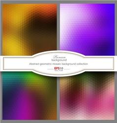 Mosaic gradient geometric background vector image