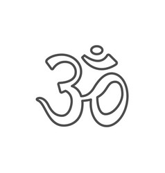 om yoga line outline icon vector image