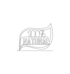 one single line drawing eco friendly and vector image