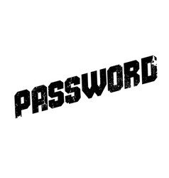 Password rubber stamp vector