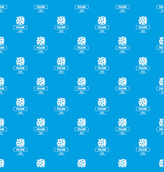 pillow pattern seamless blue vector image