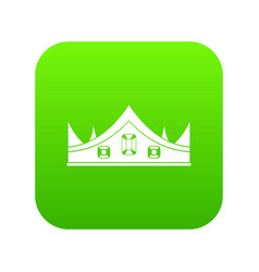 royal crown icon digital green vector image