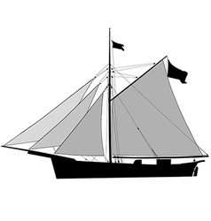 Sailship Cutter vector image