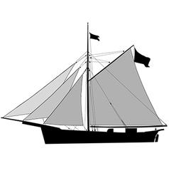 Sailship Cutter vector image